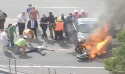 accidente incendio