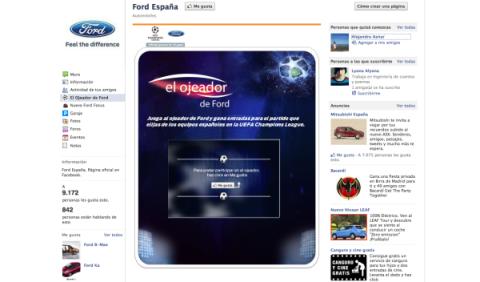 Aplicación de Ford en Facebook