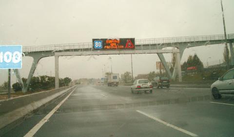 Uno de cada diez accidentes, por culpa de la lluvia ligera