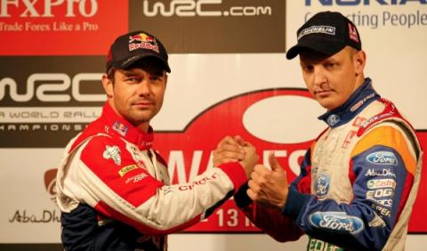 Sébastien Loeb y Mikko Hirvonen