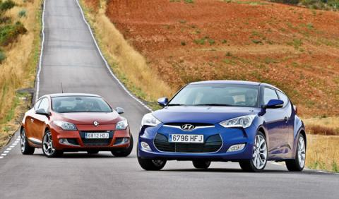 renault-megane-coupe-tce-hyundai-veloster-gdi-exterior-estática-frontal