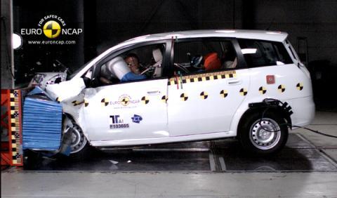 EuroNCAP puntúa con dos estrellas el primer coche chino