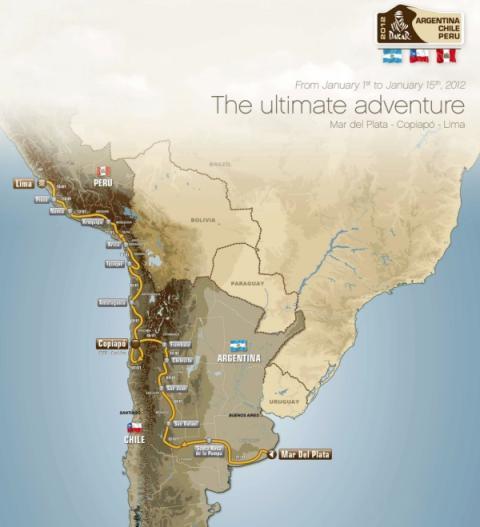 Etapas Dakar 2012