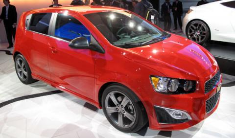 chevrolet sonic aveo rs salon detroit 2012