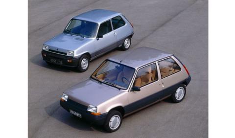 Dos generacioner de Renault 5