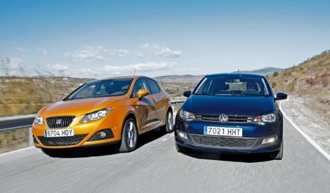 Seat Ibiza vs Volkswagen Polo delantera