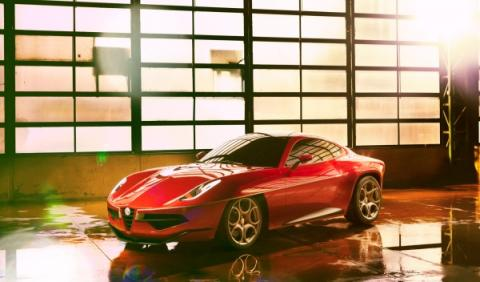 Alfa Romeo Disco Volante frontal estática salón de Ginebra 2012