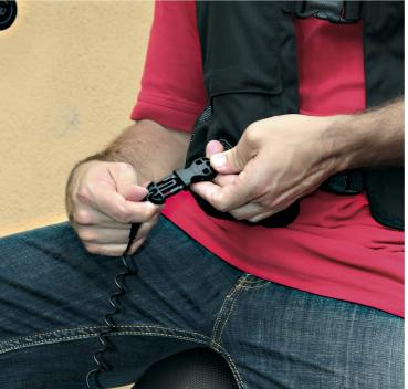 Cable de seguridad del airbag de moto