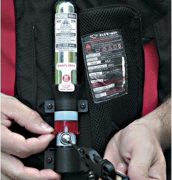 Bombona de CO2 del airbag de moto
