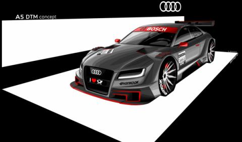 Audi muestra el A5 DTM 2012