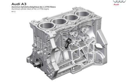 Bloque de aluminio del motor del nuevo Audi A3