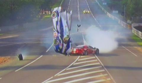 Accidente Davidson Toyota 24 horas Le Mans 2012