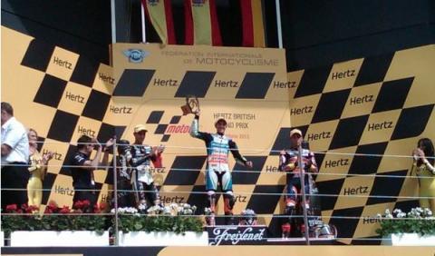 GP Gran Bretaña 2012: Viñales completa el triplete en Moto3