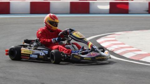 Kart de carreras-curva lateral