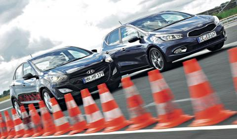 Hyundai i30 vs Kia cee´d frontal