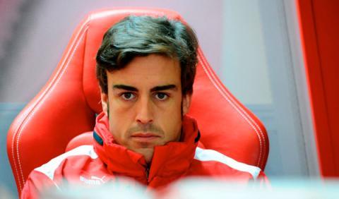 El coche de Fernando Alonso