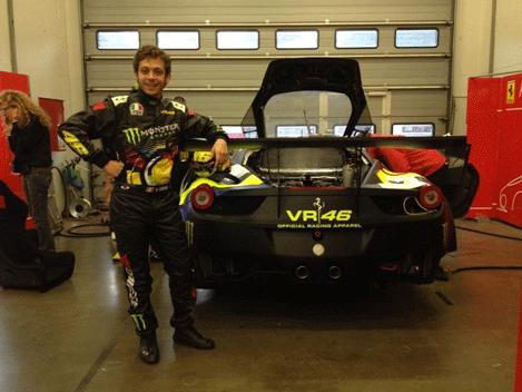 Valentino Rossi Ferrari Nurburgring
