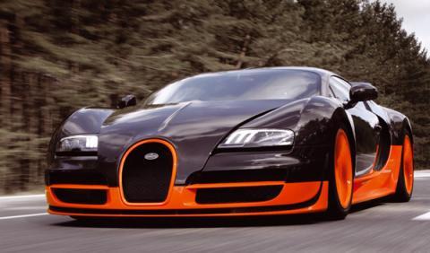 Un Bugatti SuperVeyron de 1.600 CV en el Salón de Frankfurt
