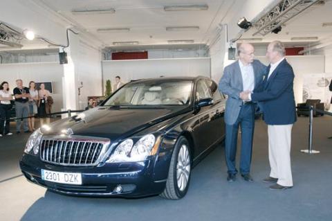 El Rey con el presidente de Daimler