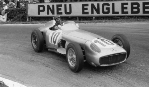 Fangio Mercedes W196R en Spa