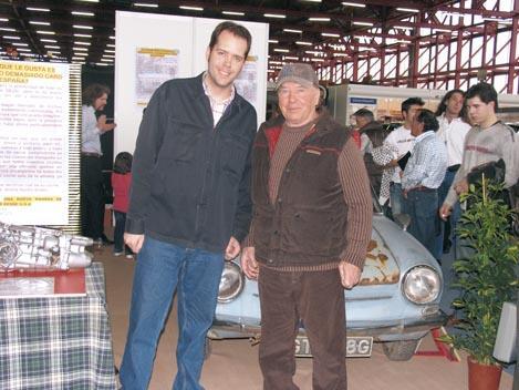 Rodrigo Fersainz (izqda.) junto a Alain Petit, 'el Cascadeur'