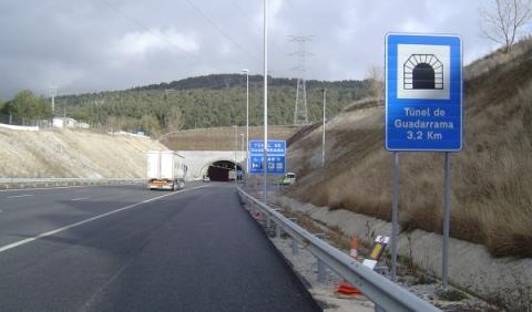 Radares de tramo en el túnel de Guadarrama