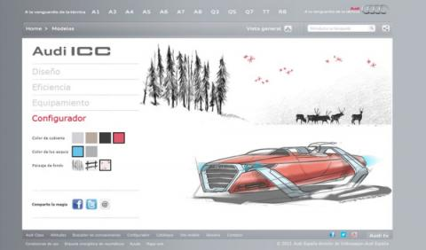 Pagina web Audi ICC