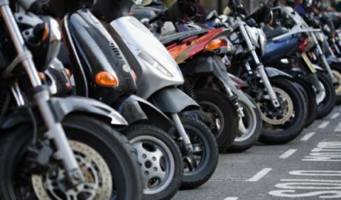 Scooters estacionadas