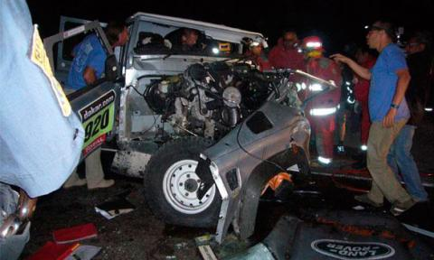 Accidente Rally Dakar 2013