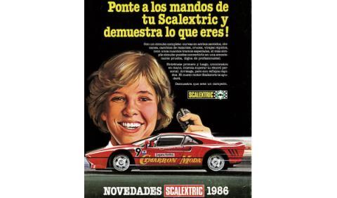 Publicidad Scalextric 1986