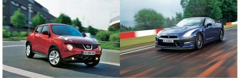 Nissan Juke y Nissan GT-R