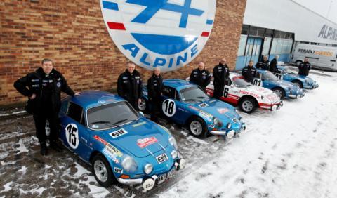 5 berlinetas Alpine para el Rally Histórico de Montecarlo