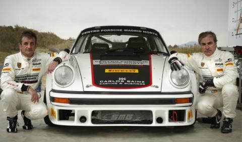 Sainz y Moya con el Porsche 911