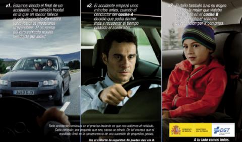 Campaña de control del cinturón de seguridad y las sillitas