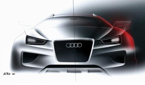 Cambio de diseño en Audi. Boceto del Crosslane Coupe