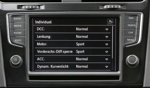 Golf GTI perfiles conduccion