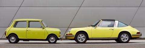 Mini 1000 y Porsche 911T 1963