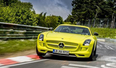 Mercedes SLS AMG Coupé eléctrico: récord en Nürburgring