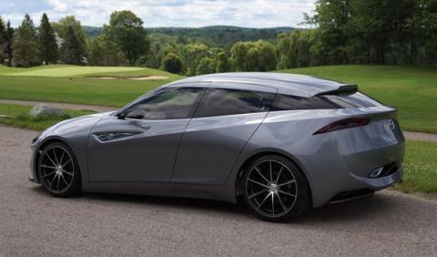 Trasera del Mazda Deep Orange 3 Concept