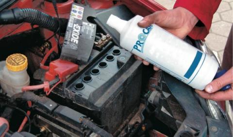 Batería agua destiada