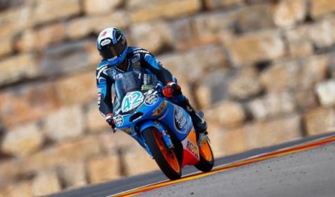 Álex Rins, durante el Gran Premio de Aragón 2013.