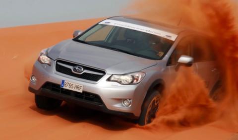 Subaru XV en el desierto