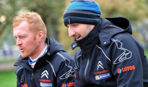 Robert Kubica y su copiloto Maciek Baran