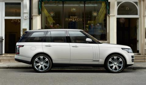 Lateral del Range Rover batalla larga