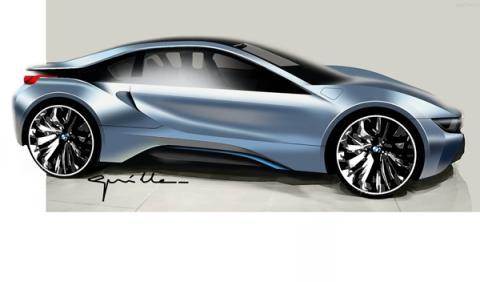 Dibujo del prototipo del BMW i8.