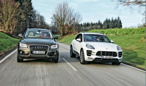 Porsche Macan vs Audi Q5 delantera