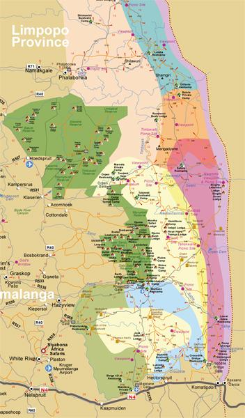 Parque Kruger mapa