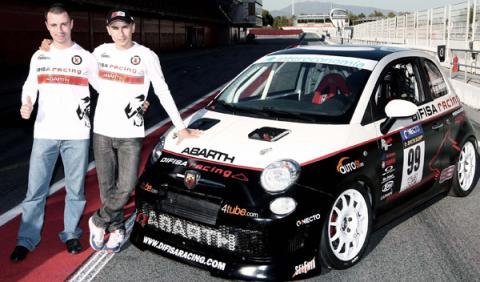 Jorge Lorenzo se pasa a las cuatro ruedas con un Abarth 500