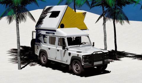 Land Rover Defender caravanizar