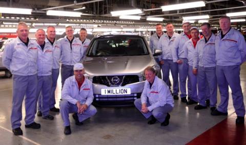 Nissan produce un millón de Qashqai en Europa